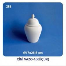 Çini vazo 17x26,5cm (şah küp)